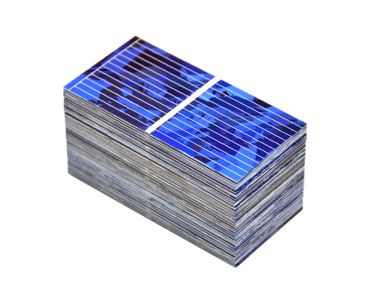 Aoshike 0.5V 0.45A Solar Panel Polycrystalline Silicon Solar Cells Solar Module DIY Solar Sunpower Charger Power 52*26mm 100pcs 8