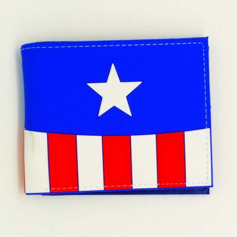 new design captain american marvel anime Silica gel men wallets the wolf of game of throne man credit card holder Money purse marvel platinum the definitive x men reloaded