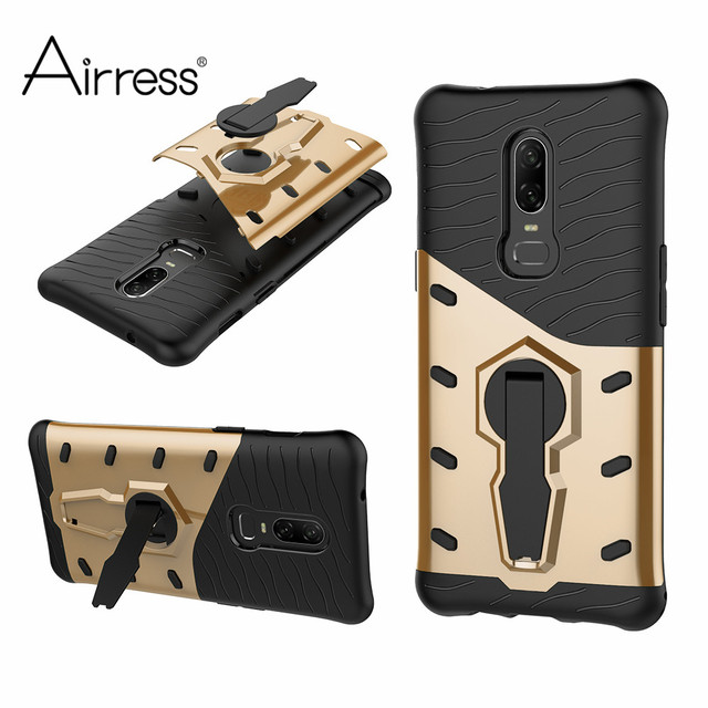 official photos 469ee 1f589 US $3.99 |Airress For Oneplus 6 Case Shockproof Rugged Armor 360 Stand  Cover For Oneplus 3 One Plus5 Oneplus5T Coque Funda-in Fitted Cases from ...