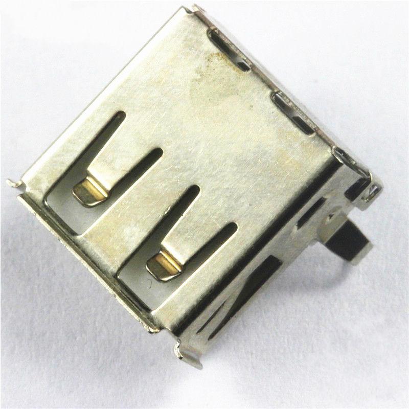 Glyduino Electronic Element USB-A Mother USB Socket Base Interface A 90 Degree Bend Feet Curved Needle USB
