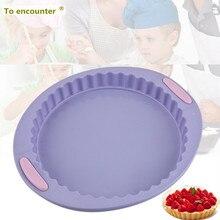 To encounter 30.2*26.1CM Big Round Shape Silicone Cake Molds Pastry Silicone Baking Trays Baking Pan Free Shipping