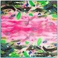 Шаблон Бренда Twill Шелковый Шарф Шаль Для Женщин Горячей Продажи леди Абстрактная Живопись Маслом Реки Шелковые Шарфы Палантины Шарф женщины