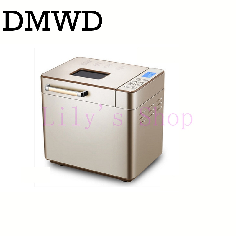 DMWD Electric toaster bread baking machine breadmaker household multifunction intelligent toast yogurt flour-mixing bread maker dmwd mini household bread maker electrical toaster cake cooker 2 slices pieces automatic breakfast toasting baking machine eu us