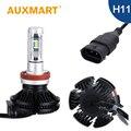 Auxmart H11 Car LED Headlight Kit 50W/Set CREE Chips Fog Light DIY 3000k 6500k 8000k Head Lamp Bulb Auto Lighting