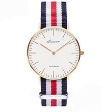 classic brand Geneva relogio feminino casual Quartz watch men women Nylon strap Dress watches women watch Relojes hombre Gift