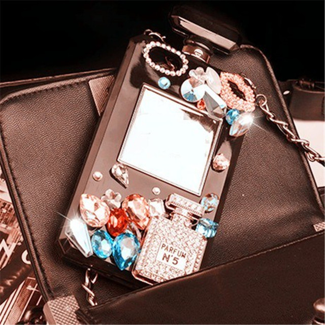 fashion perfume bottle Rhinestone gem Silicone cover For Samsung Galaxy S8  S8 Plus S6 edge plus S7 S7 edge TPU Soft phone Case e4b5fa4252f5