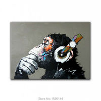 Modern Oil Painting Cartoon Hand Painted On Canvas Abstract Animal Wall Art Picture For Home Decoration