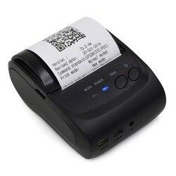 Bluetooth 58mm drukarka pokwitowań termiczna kieszonkowa drukarka poz drukarka pokwitowań termiczna z nami wspornik adaptera dla IOS Android Windows|Drukarki|   -