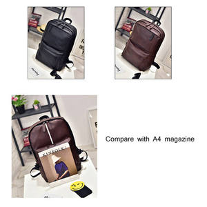 Image 3 - XIAODOO Black Leather Mens backpack Travel Casual Waterproof Laptop Backpack for man Fashion School Bag PU Leather Male 2019