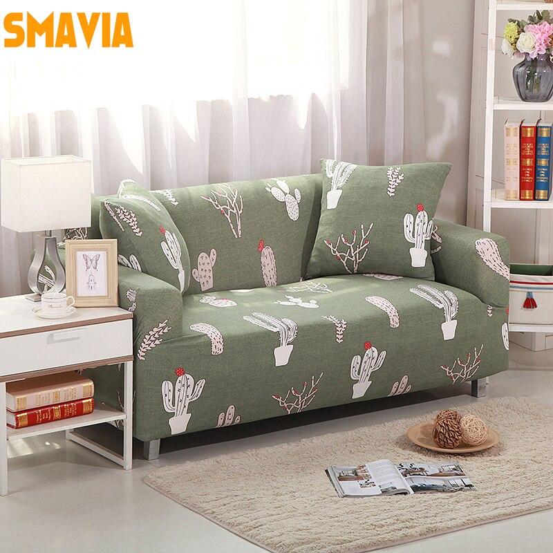 SMAVIA Small Fish Printed Sofa Cover Elasticity Flexible