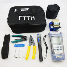 Optical Power Meter Lwl FTTH Tool Kit mit FC-6S Cleaver Optische Power Meter Visuelle Finder Locator Draht Stripper(China)