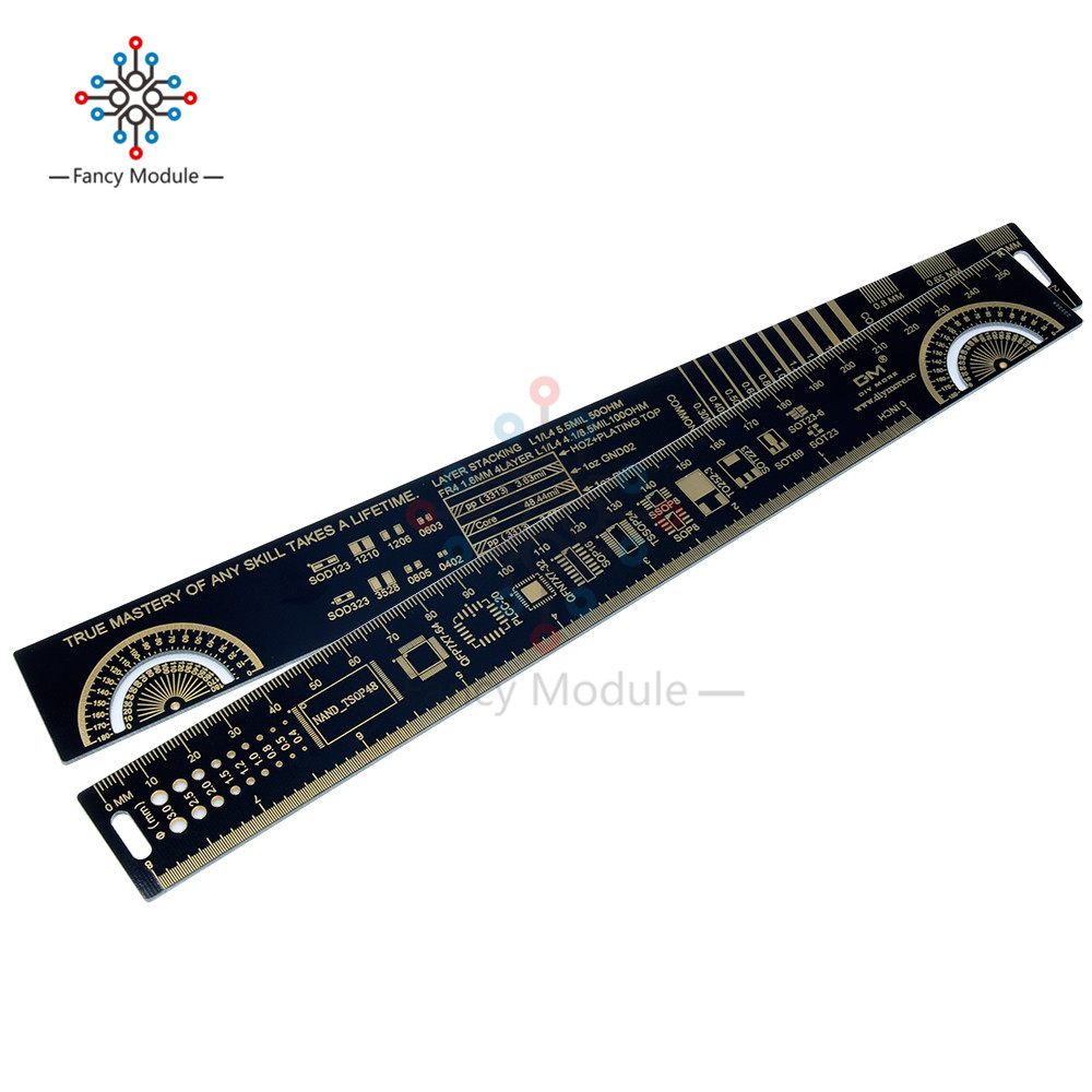 25cm PCB Ruler For Electronic Engineers For Geeks Makers For Arduino Fans PCB Reference Ruler PCB Packaging Units V2 - 8