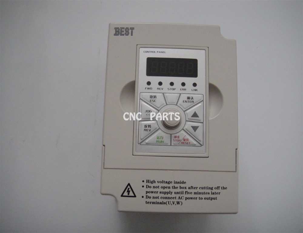 BEST 1.5kw Inverter ( Converter) FC300 Input 220V Into 0 To 220V Output 0-1000Hz Output 7A 24000rpm For 0.3 To 1.5kW Spindle