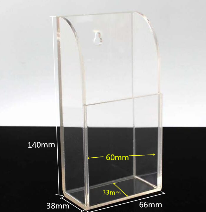 1 2 3 4 5 Frames Clear Acrylic Remote Control Organizer Storage Box Holder Case Wall Mount cell Phone TV Air Conditioner Holder in Storage Holders Racks from Home Garden