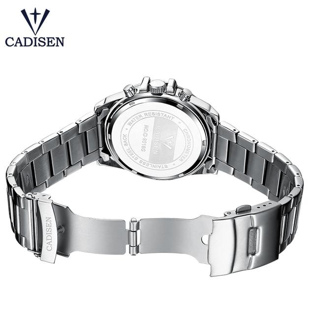 CADISEN Men's Luxury Stainless Steel Waterproof Quartz Watches 4