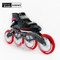 Взрослые Профессиональные роликовые коньки скорость встраиваемые коньки роликовая скорость встроенный конькобежный спорт для детей Patins р