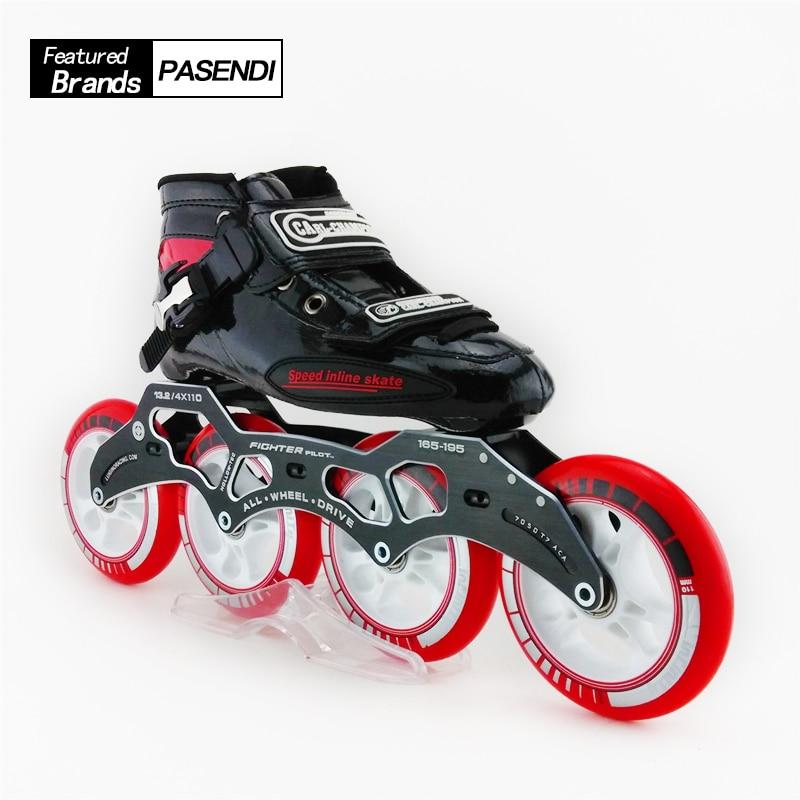 Adultes Patins à roulettes professionnels vitesse Patins à roulettes chaussures Roller vitesse patinage en ligne Sport pour enfants Patins Roller