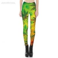 Capris Tropical Leaves 3D Printed Leggings Exercise Hot Sale Gothic Crop Legins Rock Fitness Trousers Punk