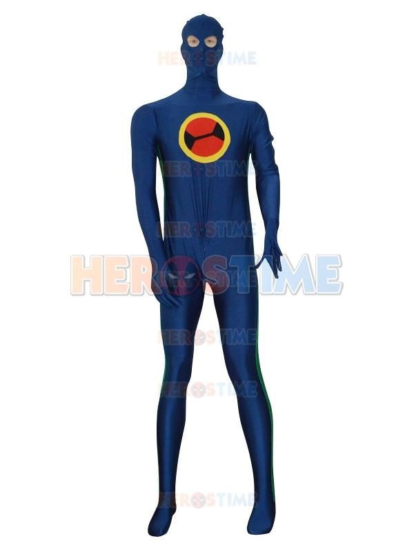 Navy Blue & Green Custom Superhero Costume Halloween Cospaly Hot Sale Show Zentai Suit Free Shipping