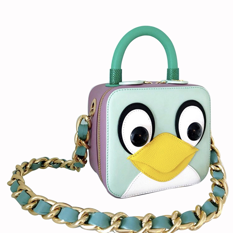 Women Bags Designer Shoulder Portable Penguin Messenger Bag Chain Configuration Square Small Size Bags For Womens