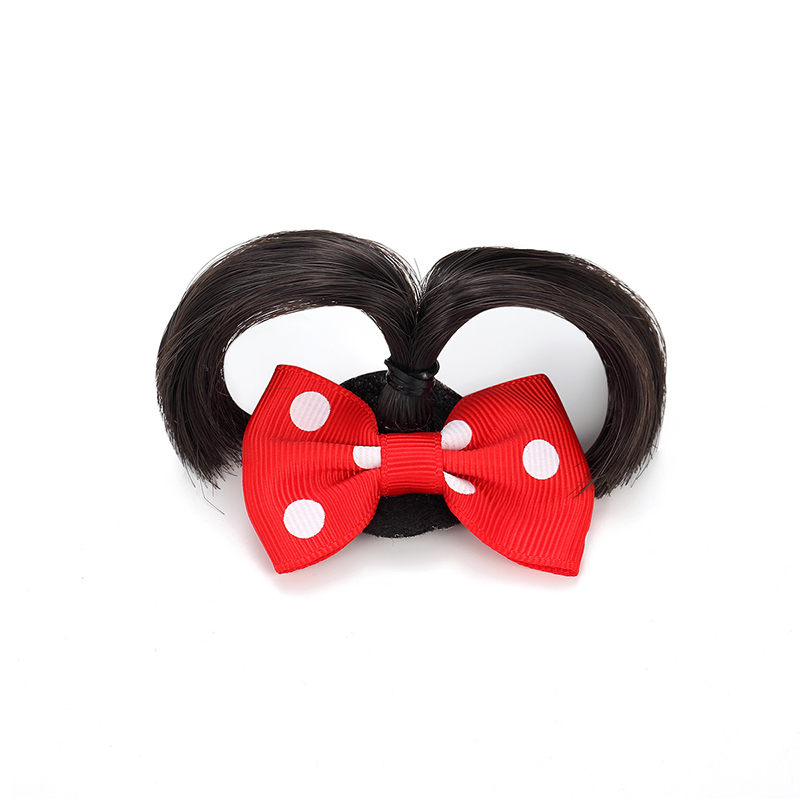 CHIMERA Bow Hair Clips for Kids Girls Children Red Cute Fake Ponitail Fashion Jewelry Hairpin Clamp Accessories