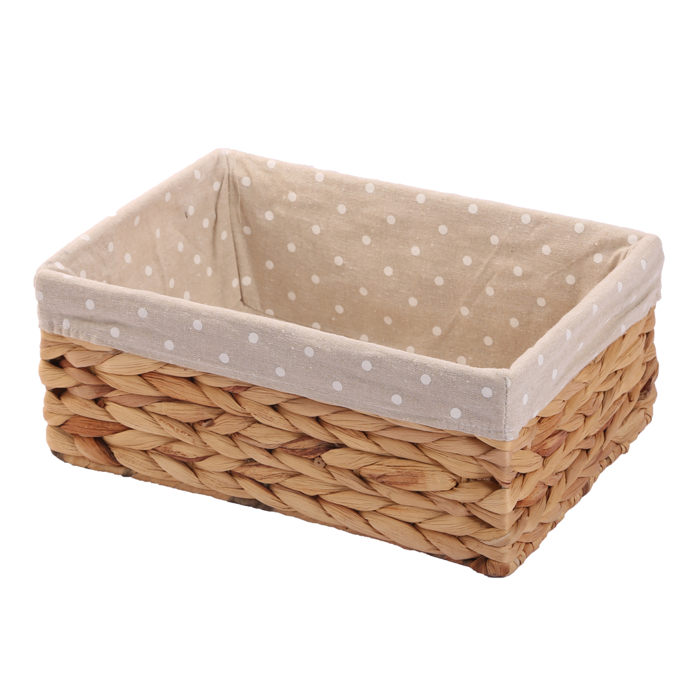 Woven Natural Water Hyacinth Rectangular Storage Baskets Bins For Shelves  Organizer Container Cosmetics Box Cesto Ropa Sucia