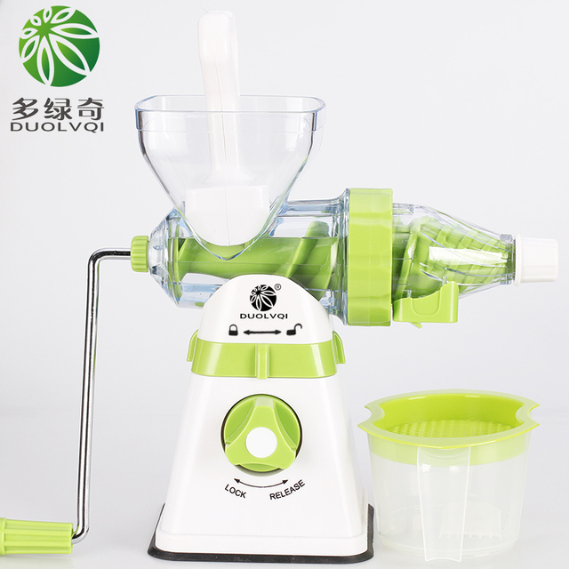 DUOLVQI Juicer Manual Hand,Orange Slow Juicers,Lemon Icecream,Extractor Machine,Blend Fresh Health Juicer Machine,Kitchen Tools