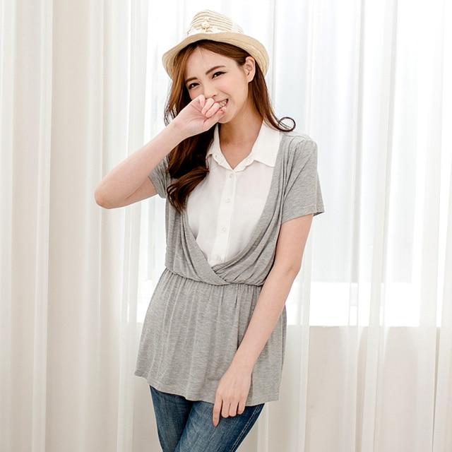 MamaLove Летние Одежда Для Беременных Мода Для Беременных Топы Кормящих Футболки Кормящих Одежда для беременных Грудное Вскармливание Рубашки