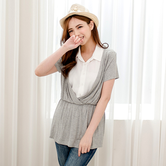 MamaLove Summer Maternity Clothes Fashion Maternity Tops Nursing T-shirt Nursing Clothes for pregnant women BreastFeeding Shirts