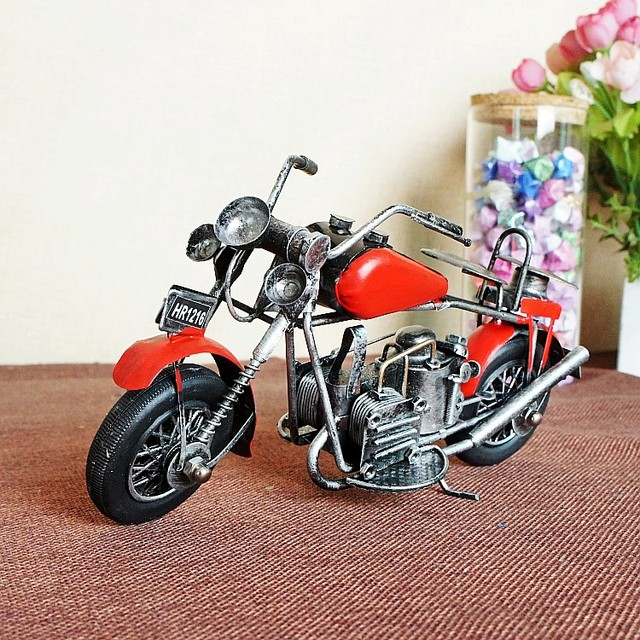 Superbe For Harley Davidson Motorcycles Antique Tin Manual Model Car Home Decoration  Gifts