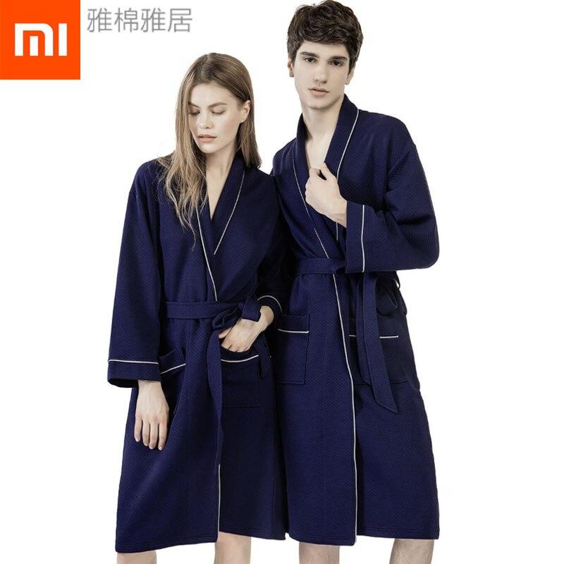 Xiaomi Mijia Hotel Robes Winter Warm Bathrobe Nightdress Sleepwear Pajamas Cotton Polyester Homewear Sleepwear Hotel Bathrobe