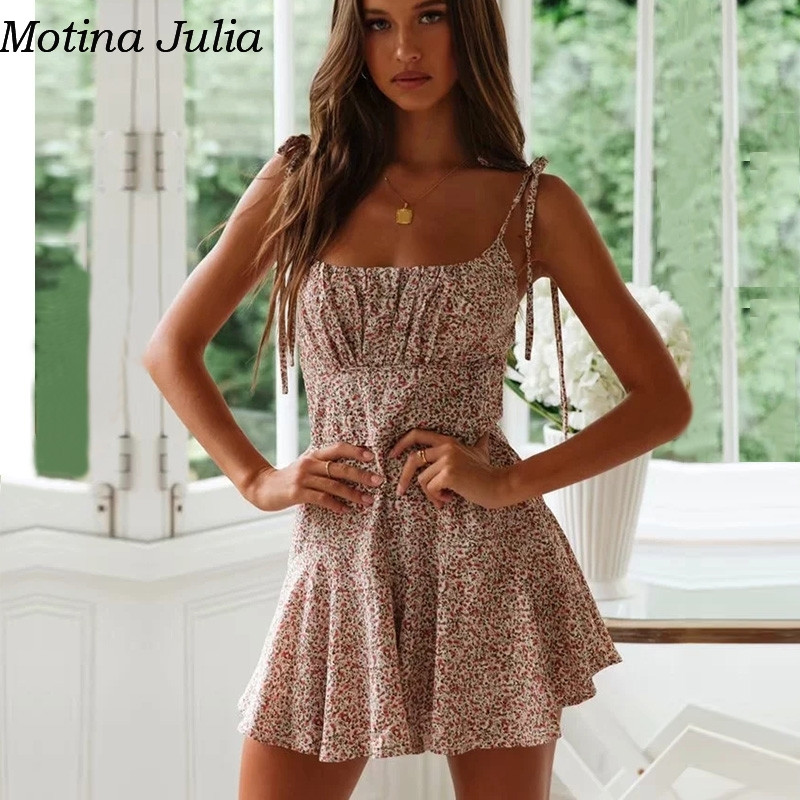 Motina Julia Elegant strap sleeveless short   jumpsuit   romper Summer sexy beach playsuit women Casual daily cute overalls