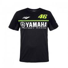 2017 Валентино Росси MotoGP VR46 для Yamaha двойной Racing Black Мужская футболка