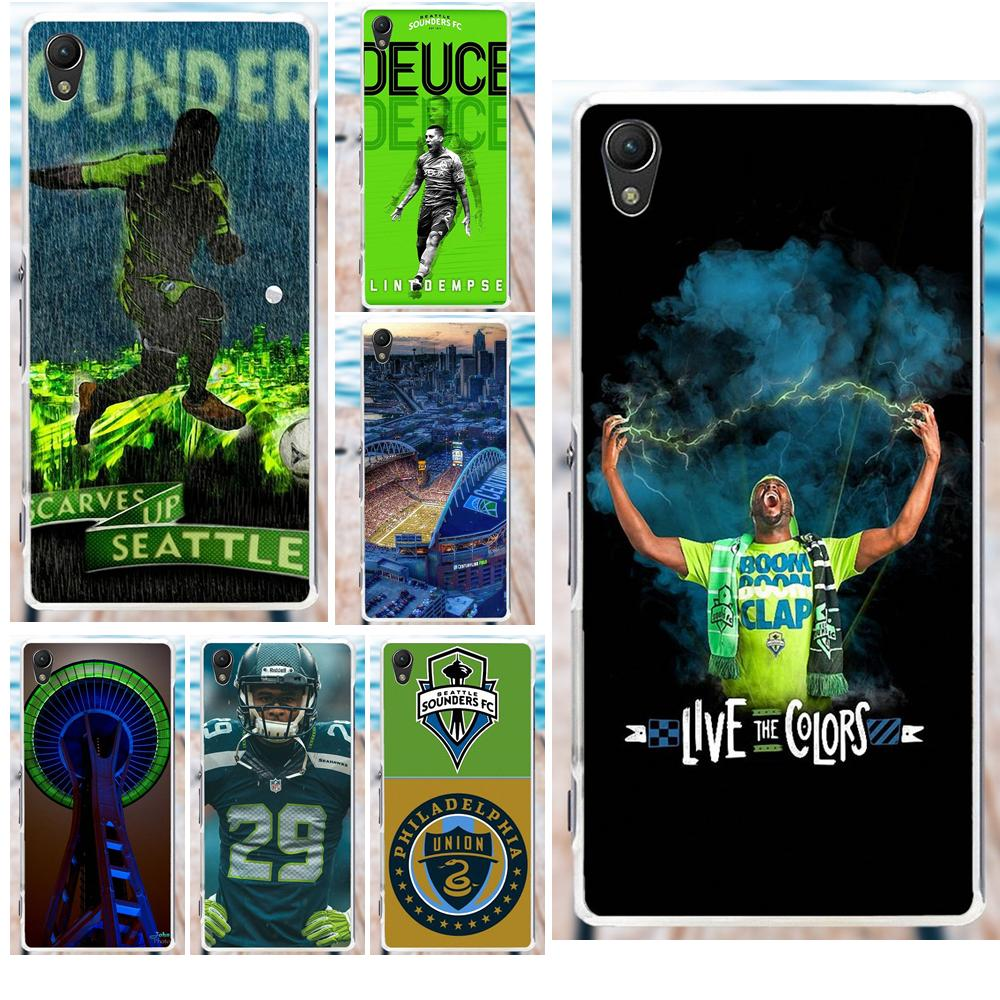 Soft Silicone TPU Transparent Cases Capa Seattle Sounders For Sony Xperia Z Z1 Z2 Z3 Z4 Z5 compact Mini M2 M4 M5 T3 E3 XA image