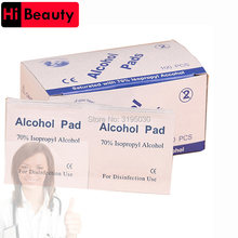 Portable 100pcs/bag Alcohol Swabs Pads Wipes Antiseptic Cleanser Cleaning Sterilization First Aid Home makeup accessory(China)