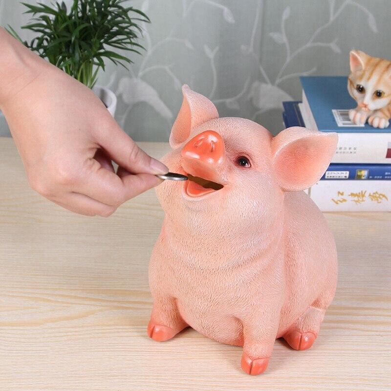 Tirelire chien maison résine artisanat ornements gallois Corgi Pembroke carlin cochon tirelire caisse caisse banque de pièces tirelire tirelire R2002