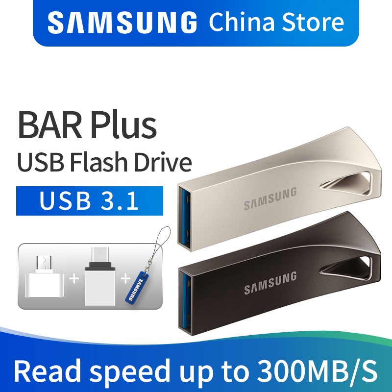 SAMSUNG 32GB 64GB de Disco USB Flash Drive 128GB 256GB 3.1 GB USB 3.0 Dispositivo De Armazenamento de Metal Mini Pen Drive Pendrive Memory Stick U Disco