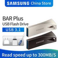 SAMSUNG 32GB 64GB de Disco USB Flash Drive 128GB 256GB 3.1 GB USB 3.0 de Metal Mini Pen Drive dispositivo Pendrive Memory Stick Armazenamento do Disco de U