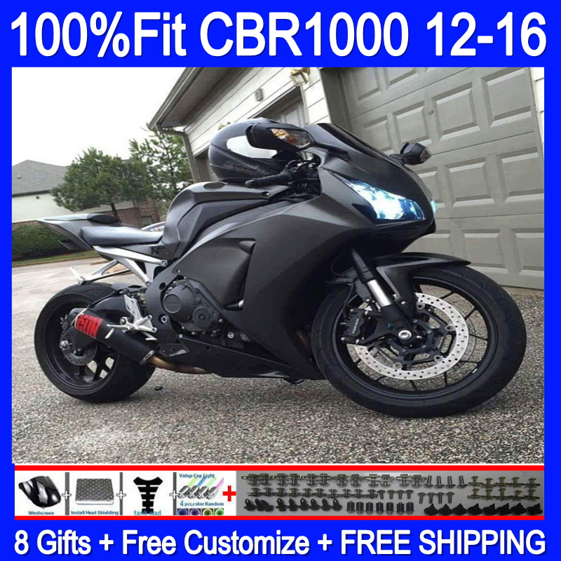 Ad iniezione Per HONDA CBR1000 RR 2012 2013 2014 2015 2016 74HM. 25 CBR 1000RR 1000 RR CBR1000RR 12 13 14 15 16 Carenatura nero Opaco