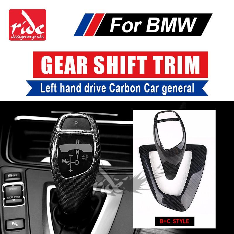 Pour BMW E39 E60 F10 couvercle de changement de vitesse 520i 528i 530i 540i conduite à gauche en Fiber de carbone