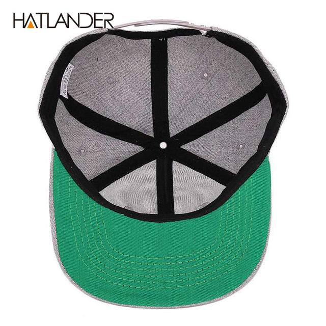 [HATLANDER]Maple solid cotton snapback caps women's flat brim hip hop cap outdoor baseball cap bone gorras mens caps and hats