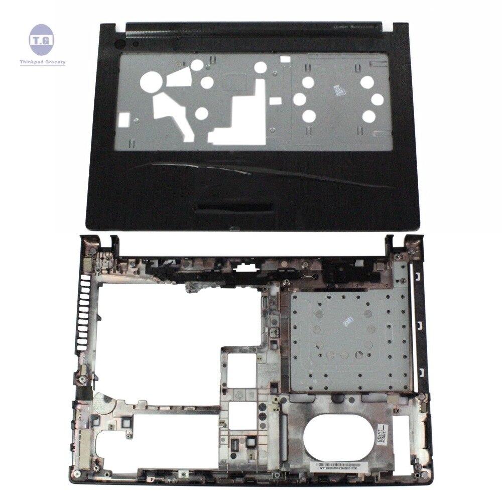 New Lenovo G400S G405S Series Upper Case Palmrest Case AP0YC000C60 & Bottom Case Cover AP0YC000320