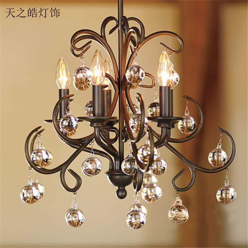 European style retro crystal chandelier black iron art simple living room bedroom dining room hanging lighting european chandeliers bedroom living room dining hanging lighting fixtures wrought iron black art retro chandelier e27