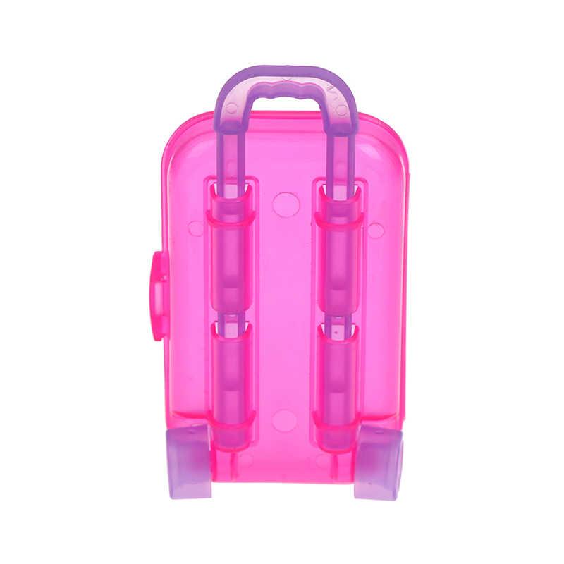 1pcs Fashion Unisex Kofferbak Bagage Doos Claear Reizen Koffer Voor Pop Kinderen Speelgoed Verjaardagscadeau 3*4.5*9cm