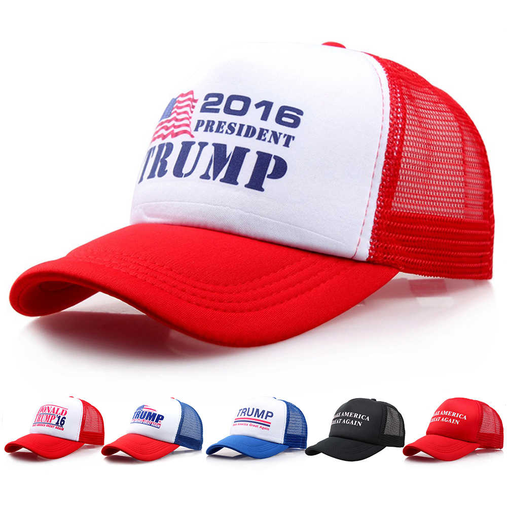 Make America Great Again Letter Print Donald Trump Hat 2018 Republican Sport Tennis Cap Polo Hat For President USA Hat