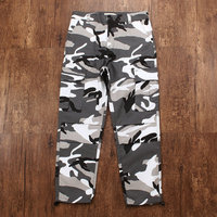 Color Camo Camouflage Cargo Pants 2019 Men Women Casual Fashion Streetwear Pockets Orange Tactical Sweatpants Hip Hop Trouser