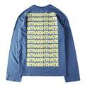 VETEMENTS T-shirt Longos Da Luva Dos Homens Moletom Com Capuz Suor Straighthate Puxe Tubarão Decks Bordo Hip Hop Kanye Unisex Camisolas Oversize