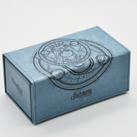 Time Walker Hand Made Leather Deck Wooden Cards Box Battle Ground Godness Deck Case Can Hold