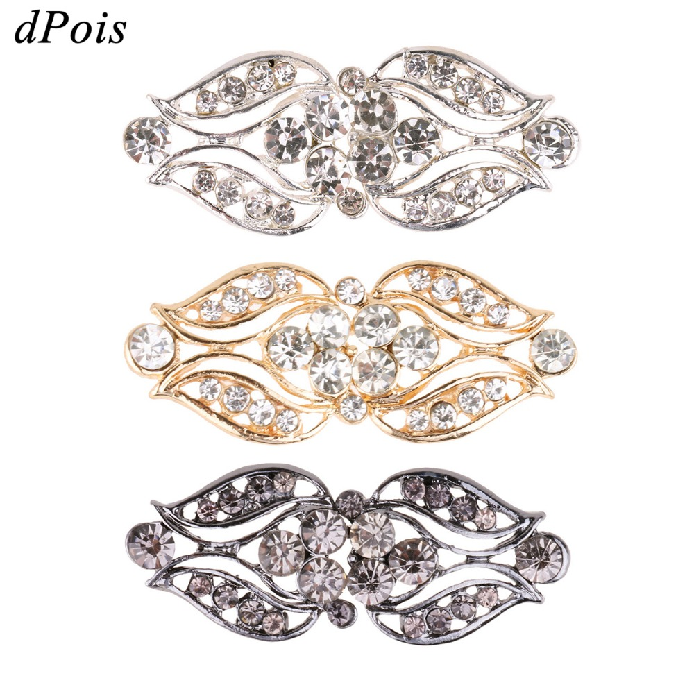 3 Pairs Cardigan Clips Brooches for Women Leaf Rose Brooch Crystal Cape Cloak Clasps Fasteners Sewn On Sweater Shawl Clip stuffed toy
