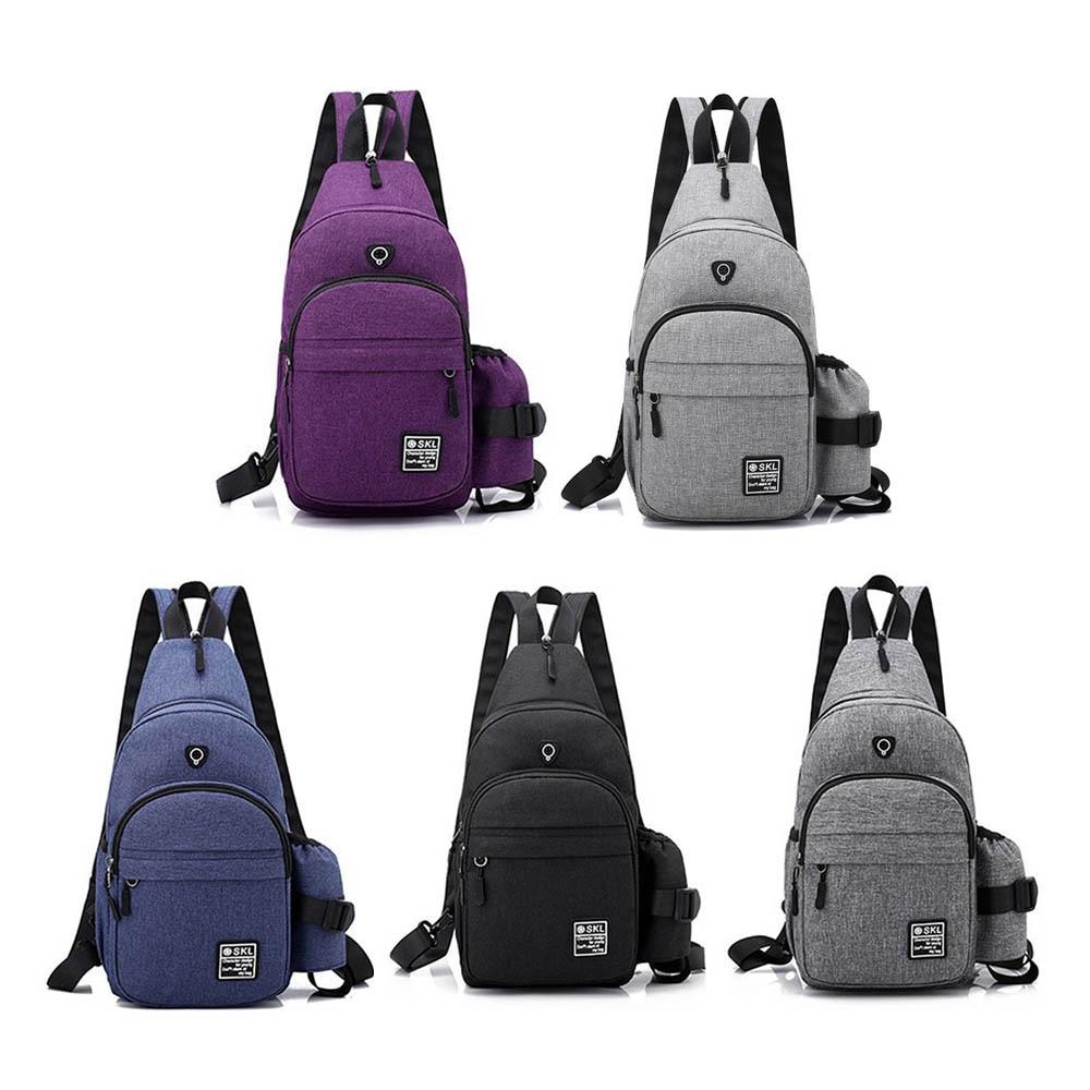 Multifunctional Men's Sling Backpack Crossbody Chest Bag With Earphones Hole Storage Tool Bag